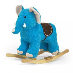 Hojdacia hračka s melódiou Elephant modrá