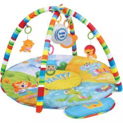 Hracia deka s hracím modulom Baby Mix safari zelená