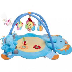 Hracia deka s melódiou PlayTo sloník s hračkou modrá