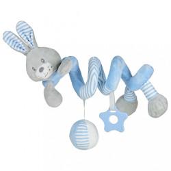 Hračka na postieľku Špirála Baby Mix králik modrý
