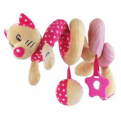Hračka na postieľku Špirála Baby Mix Mačička ružová