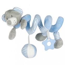 Hračka na postieľku Špirála Baby Mix medveď modrý