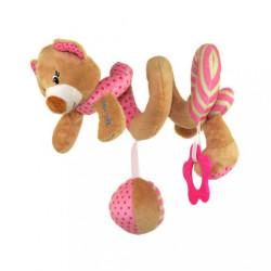 Hračka na postieľku Špirála Baby Mix medvedík ružový