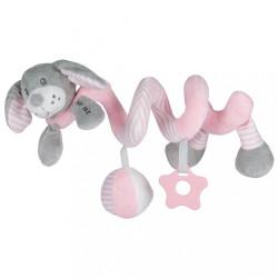 Hračka na postieľku Špirála Baby Mix pes rúžový