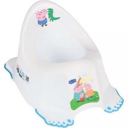 Hrajúci detský nočník Prasiatko Peppa white-blue modrá