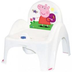 Hrajúci detský nočník s poklopom Prasiatko Peppa white-pink ružová