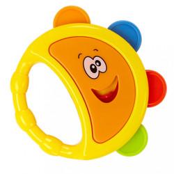 Hrkálka Baby Mix tamburína žltá