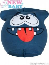 Jarná detská čiapočka New Baby smejko modrá