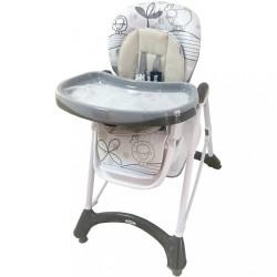 Jedálenská stolička Baby Mix dark grey sivá