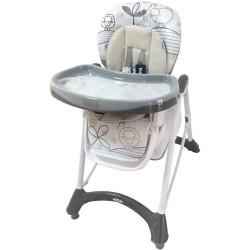 Jedálenská stolička Baby Mix dark grey tmavo sivá