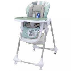 Jedálenská stolička Baby Mix Infant green zelená