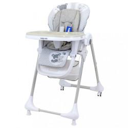 Jedálenská stolička Baby Mix Infant grey sivá