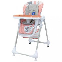 Jedálenská stolička Baby Mix Infant pink ružová