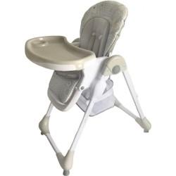 Jedálenská stolička Baby Mix Junior light grey svetlo sivá