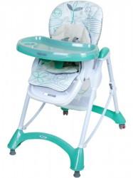 Jedálenská stolička Baby Mix mint mätová