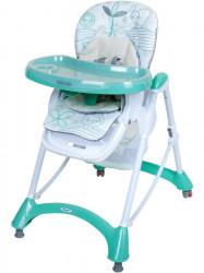 Jedálenská stolička Baby Mix mint zelená