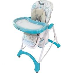 Jedálenská stolička Baby Mix turquoise tyrkysová