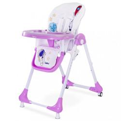 Jedálenská stolička CARETERO Luna lavenda fialová