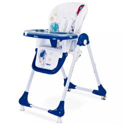 Jedálenská stolička CARETERO Luna navy modrá
