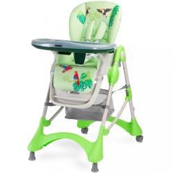 Jedálenská stolička CARETERO Magnus New green zelená