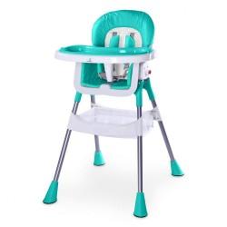Jedálenská stolička CARETERO Pop turquoise tyrkysová