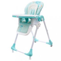 Jedálenská stolička NEW BABY Minty Fox - ekokoža a vložka pre bábätká zelená