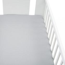 Jersey prestieradlo do postieľky New Baby 120x60 sivé
