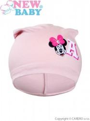 Jesenná detská čiapočka New Baby Minnie staroružová