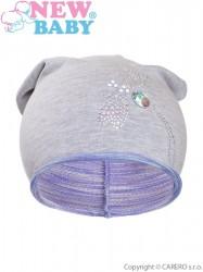Jesenná detská čiapočka New Baby vážka fialová
