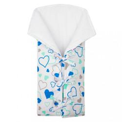 Klasická šnurovacia zavinovačka New Baby JACKET modré srdiečka