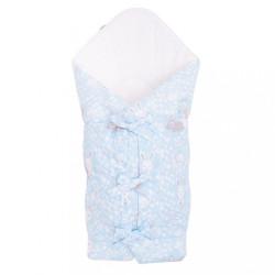 Klasická šnurovacia zavinovačka New Baby Králičky modrá