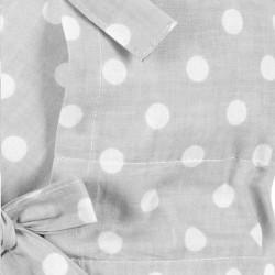 Klasická šnurovacia zavinovačka New Baby sivá s bodkami #1