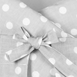 Klasická šnurovacia zavinovačka New Baby sivá s bodkami #2