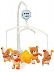 Kolotoč nad postieľku Baby Mix medvedíkovia s kvietočkom na ušku podľa obrázku