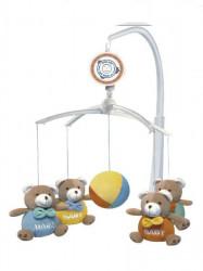 Kolotoč nad postieľku Baby Mix Medvedíky Baby multicolor