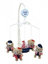 Kolotoč nad postieľku Baby Mix Medvedíky Námorníci podľa obrázku