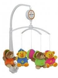 Kolotoč nad postieľku Baby Mix Medvedíky podľa obrázku