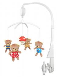 Kolotoč nad postieľku Baby Mix Medvedíky s muchotrávkou podľa obrázku