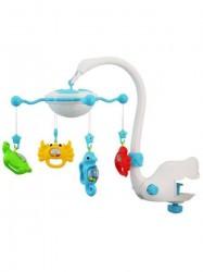 Kolotoč nad postieľku s lampičkou Baby Mix blue modrá