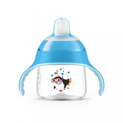 Kúzelný hrnček Avent Premium Pingu 200 ml modrý
