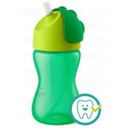 Kúzelný hrnček s ohybnou slamkou Avent 300 ml zelený
