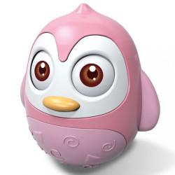 Kývajúca hračka Baby Mix tučniak pink ružová