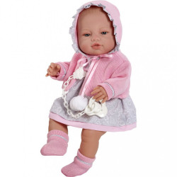 Luxusná detská bábika-bábätko Berbesa Amanda 43cm ružová