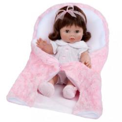 Luxusná detská bábika-bábätko Berbesa Lusy 35cm ružová