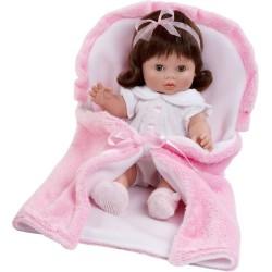 Luxusná detská bábika-bábätko Berbesa Magdalena 35cm ružová