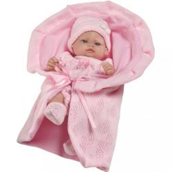 Luxusná detská bábika-bábätko Berbesa Valentina 28cm ružová