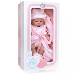 Luxusná detská bábika-bábätko Berbesa Valentina 28cm ružová #1