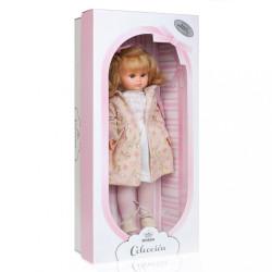 Luxusná detská bábika-dievčatko Berbesa Flora 42cm béžová #1