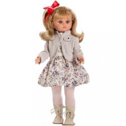 Luxusná detská bábika-dievčatko Berbesa Laura 40cm béžová