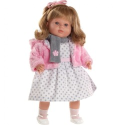 Luxusná hovoriaca detská bábika-dievčatko Berbesa Carla 53cm ružová